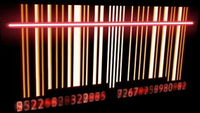 Bar Code. Scanning a bar code . Seamless Looping royalty free illustration