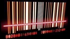 Bar Code. Scanning. Seamless Looping stock illustration