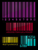 Bar code set Stock Photography