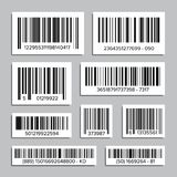 Bar Code Set Vector. Abstract Product Bar Codes Icons For Scanning. UPC Label. Isolated Illustration. Bar Code Set Vector. Universal Product Scan Code. Isolated Stock Photos