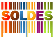 Bar code SOLDES Royalty Free Stock Image