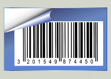 Bar Code Sticker Stock Photo