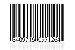 Bar code stock vector illustration. On white background Stock Image