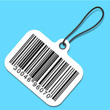 Bar code tag Stock Photo