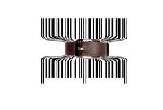 Bar code tighten with belt Royalty Free Stock Photography