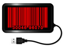 Bar code with usb cable Stock Photography