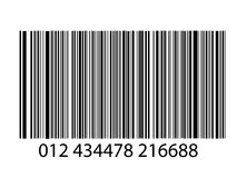 Bar-code on white. Background Stock Image