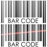 Bar code. On white background concept illustration Stock Photos