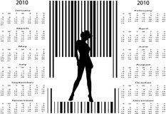 Bar code woman Stock Photos