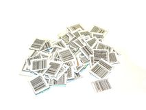 Bar-codes. Isolated bar-codes Royalty Free Stock Images