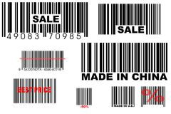 Bar codes Royalty Free Stock Photo