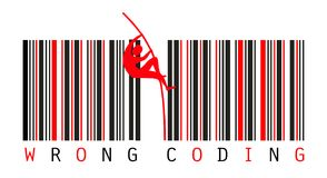 Bar Codes. Error Concept Royalty Free Stock Photography