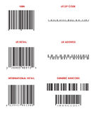 Bar Codes (Various) Stock Photo