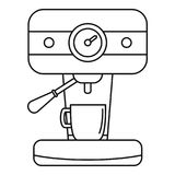 Bar coffee machine icon, outline style stock illustration