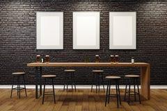 Bar contemporain avec les panneaux d'affichage vides illustration de vecteur