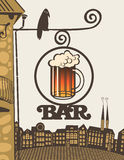 Bar on the corner of the house Royalty Free Stock Images