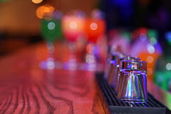 A bar counter. In anticipation of a grand party or celebration Royalty Free Stock Photo