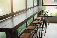 Free Bar Counter And Chair In Coffee Shop. Stock Photo - 113406870