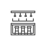 Bar counter line icon, outline vector sign Royalty Free Stock Image