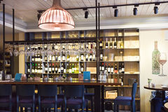 Bar and counter at restaurant. Interior. Royalty Free Stock Photos