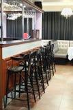 Bar counter in restaurant of Neva cinema Stock Photos