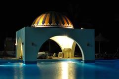 Bar d'hôtel de nuit Photographie stock