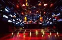Bar dans le salon d'Imperia de boîte de nuit Image libre de droits