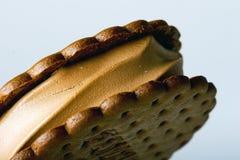 Bar de biscuit de crême glacée de chocolat Images libres de droits