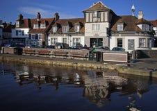 Bar de bord du quai de Lymington d'auberge de bateau Photos stock