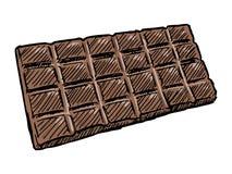 Bar de chocolat illustration de vecteur