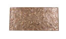 Bar de chocolat avec des noix image libre de droits
