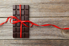 Bar de chocolat foncé Image libre de droits