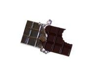 Bar de chocolat mordu Photographie stock