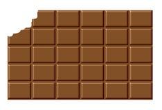Bar de chocolat mordu illustration libre de droits
