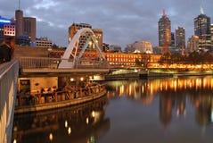 Bar de fleuve de Melbourne Yarra Photographie stock