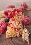 Bar de granola de bar de céréale Photographie stock libre de droits