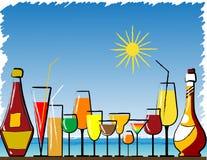 Bar de plage illustration libre de droits