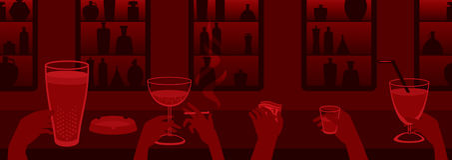 Bar de salon Image stock