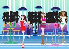 Bar de salon illustration stock