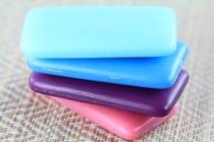 Bar de savon de beurre et de glycérine de bassie Image libre de droits