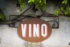 Bar de vinos en Italia Fotos de archivo