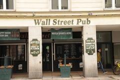 BAR DE WALL STREET Photos libres de droits