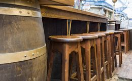 Bar design in classic vintage style. Great place for relax after work royalty free stock photography