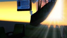 Bar dos assentos com janela e condicionador de ar com transição ilustração stock