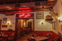 Bar dos vermelhos do Booger no distrito do curral fotografia de stock