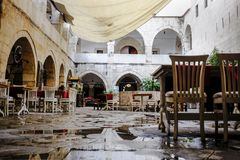 Bar du hôtel dans Safranbolu photographie stock libre de droits