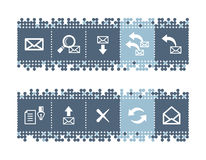 bar with e-mail icons Stock Images