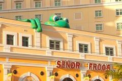 Bar et gril de Senor Frog's à vieux San Juan Photographie stock