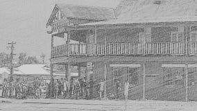 Bar för hörn för Anzac marschmöte övre Arkivbilder