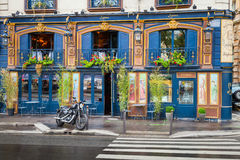 Bar facade on the Quai Des Grands Augustins, Paris Royalty Free Stock Photos